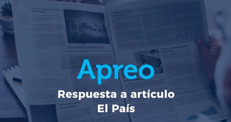 Respuesta a artículo publicado en El País