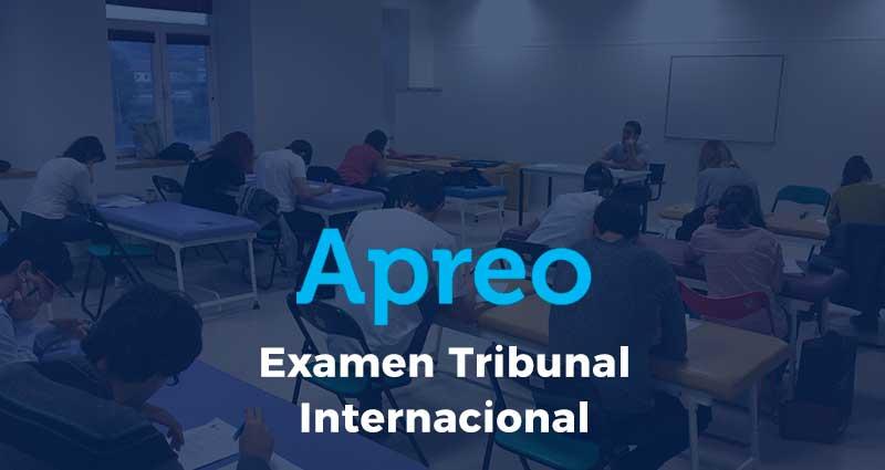 Examen del Tribunal Internacional Organizado por la Apreo 2017