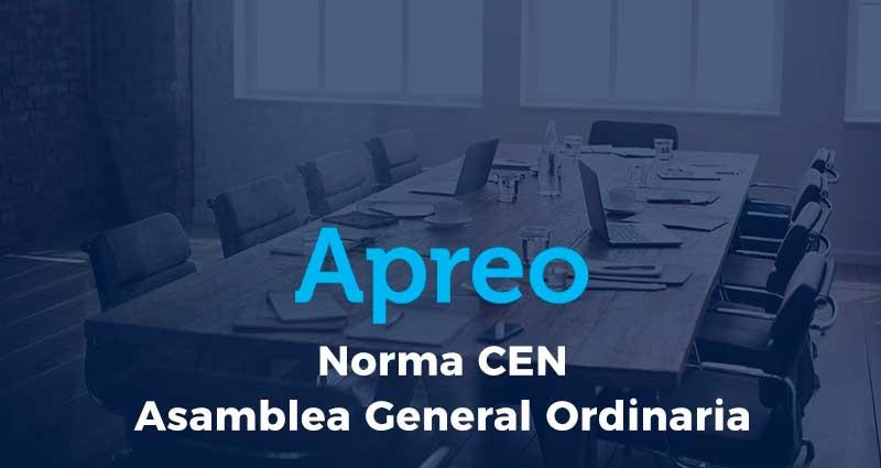 Presentación de Norma CEN y Asamblea General Ordinaria