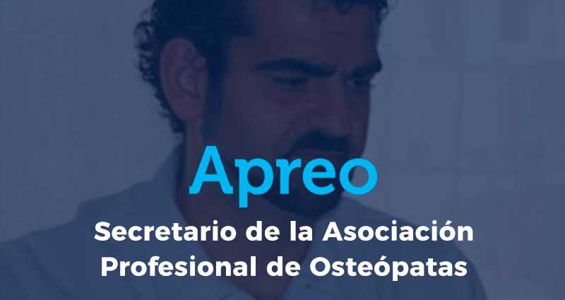 Eduardo Falcó: nuevo Secretario de la Asociación Profesional de Osteópatas de España