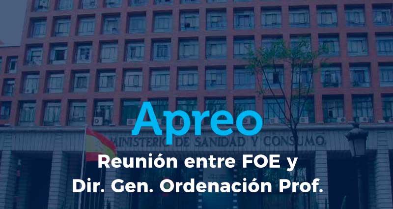 Reunión entre la FOE y el Director General de Ordenación Profesional en Madrid con presencia de nuestro Presidente, Gregorio Barroso D.O